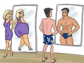 4月2日 站在镜子前检查全身